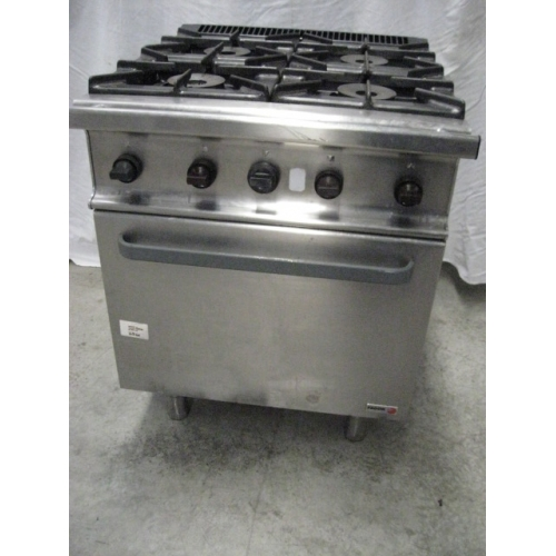 4 Burner LPG cooktop with oven