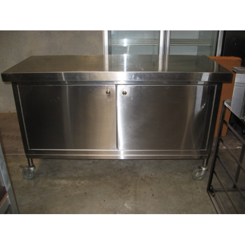 Stainless Steel 2 door mobile cabinet